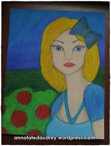 Melanie in Wonderland. Copyright. Annotated Audrey. 2013 ©