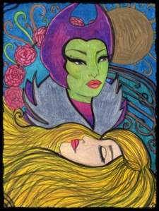 Maleficent. Copyright. Annotated Audrey. 2013 ©