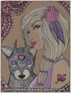 Laila and Dawn on Toned Paper. Copyright. Annotated Audrey. 2013 ©