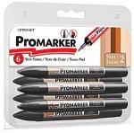 Letraset Twin Tip Pro Markers Produce Outstanding Skin Tone Colors (Set/6)