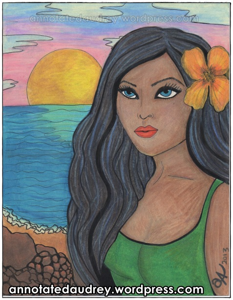 Kalani In The Sun. Copyright. Annotated Audrey. 2013 ©