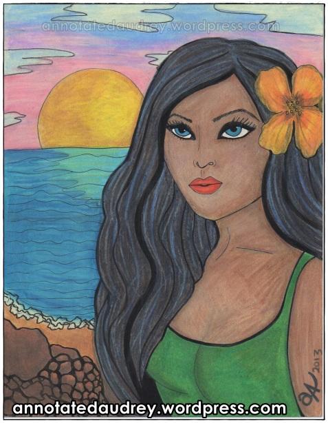 Kalani In The Sun. Copyright. Annotated Audrey. 2013 ©
