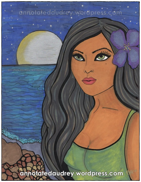 Kalani By The Moon.Copyright. Annotated Audrey. 2013 ©