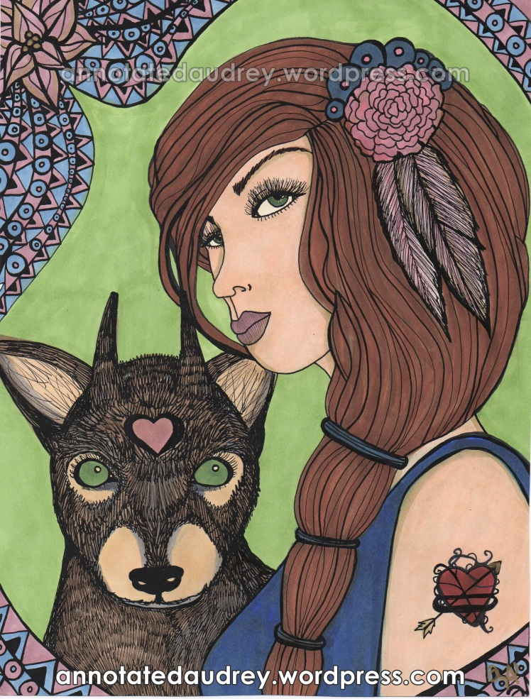 Laila and Dawn.(Copic Edition)  Copyright. Annotated Audrey. 2013 ©