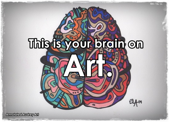 This is your brain on art. An art experiment by annotated audrey. Annotatedaudrey.wordpress.com #art