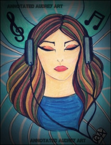 Listening.  Copyright. Annotated Audrey. 2014 © #art