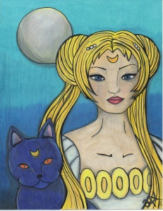 Princess Serenity. Copyright. Annotated Audrey. 2013 ©