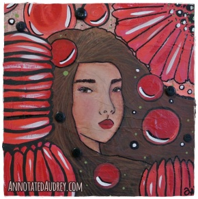 A Crimson Memory. Copyright. Annotated Audrey. 2015©
