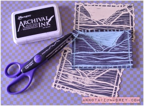 A Landscape Stamp. (Using the Speedy-Cut Easy Carving Block)