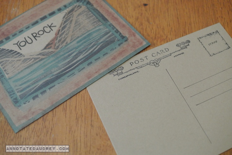 Annotated Audrey's Postcards 10