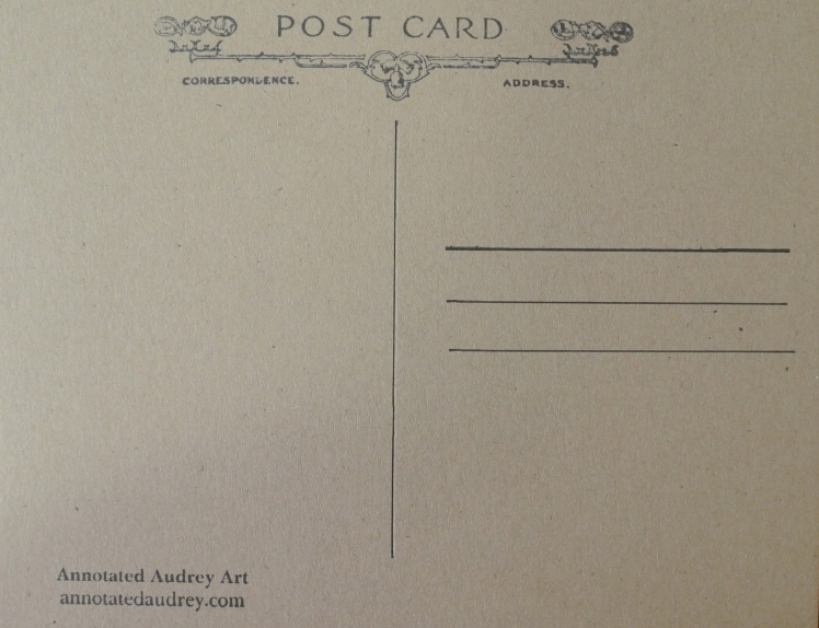Annotated Audrey's Postcards 12