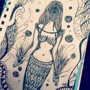 Masked Mermaid @annotatedaudrey