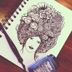 Flower hair @annotatedaudrey