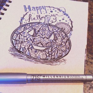 The Happy Jack-o'-lantern @annotatedaudrey