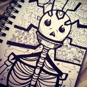 Ed The Skeleton @annotatedaudrey