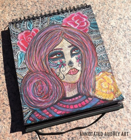 Annotated Audrey Black Sketchbook 2