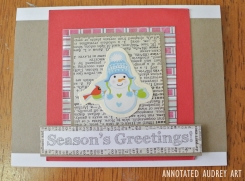 14 Annotated Audrey Christmas Cards