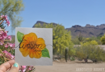 Greetings from Tucson Mail Art by Annotated Audrey 1