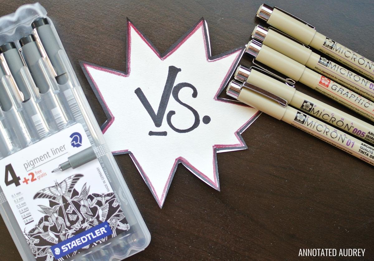 Epic Pen Battle Staedtler Pigment Liners Vs Pigma Micron Pens