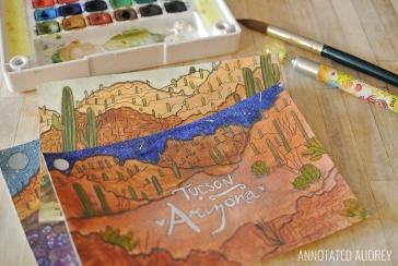 DIY Watercolor Postcards 1