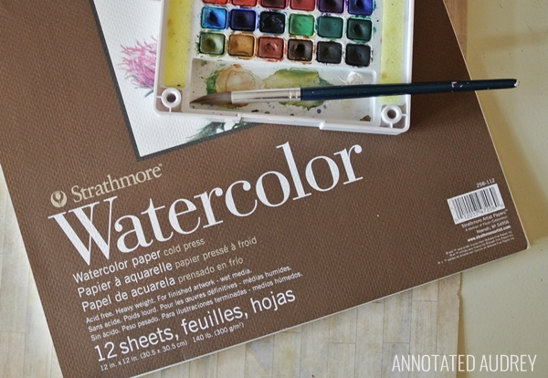 DIY Watercolor Postcards Paper