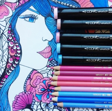 feminine florals coloring book