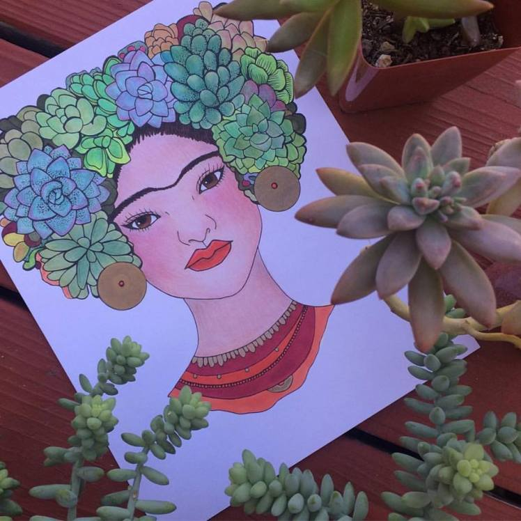 SUCCULENT FRIDA by Audrey De La Cruz | Annotated Audrey Art