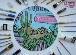 Painted Record by Audrey DLC Tucson Artist Annotated Audrey 5