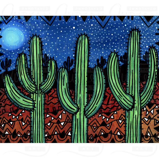 Saguaro Night by Audrey De La Cruz