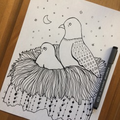 Cactus and CrittersTucson Coloring Book By AudreyDLC_ Doves in a Nest