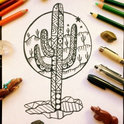 Cactus and CrittersTucson Coloring Book By AudreyDLC_SaguaroStars