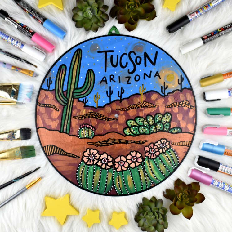 Tucson, Arizona (Blue) by Audrey De la Cruz AKA Annotated Audrey