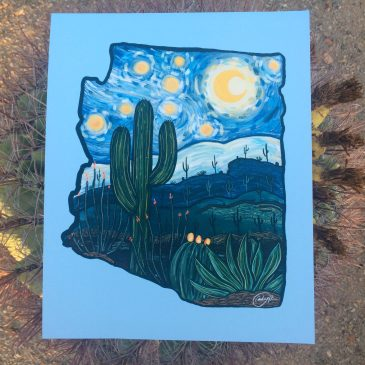 A Starry Night in AZ by Audrey DLC Annotated Audrey